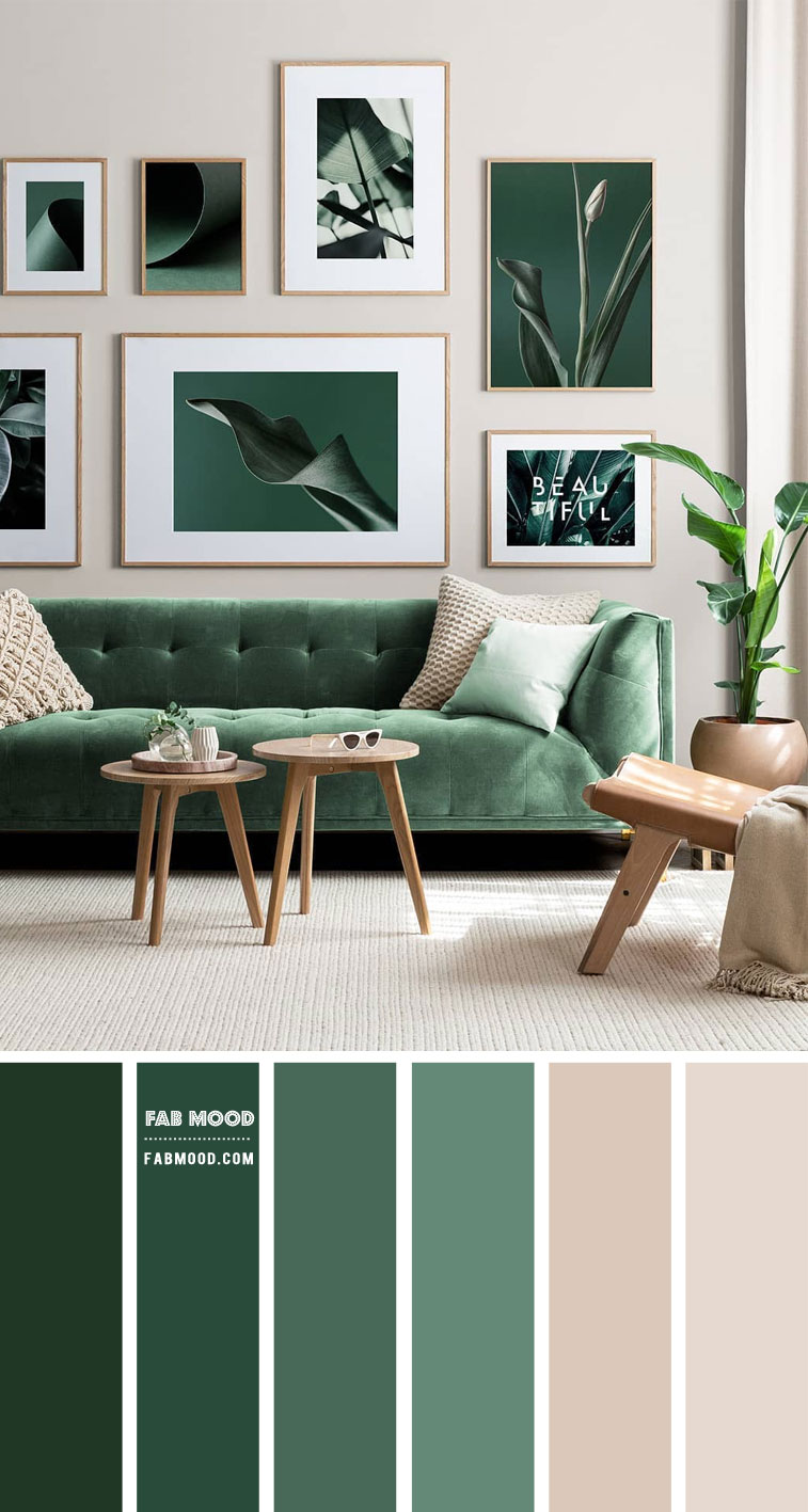 Green and Taupe Living Room