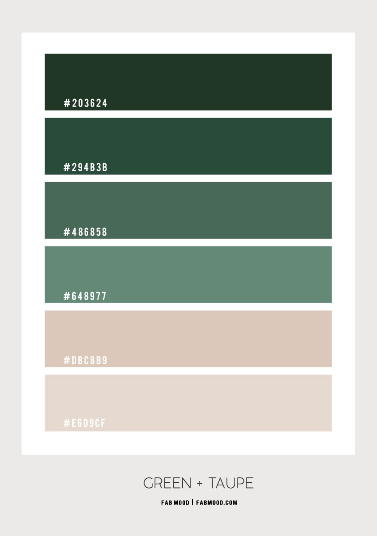 green and neutral, green and taupe color scheme, green and taupe color combo, green and taupe color combination, green color scheme, green and taupe colour palette