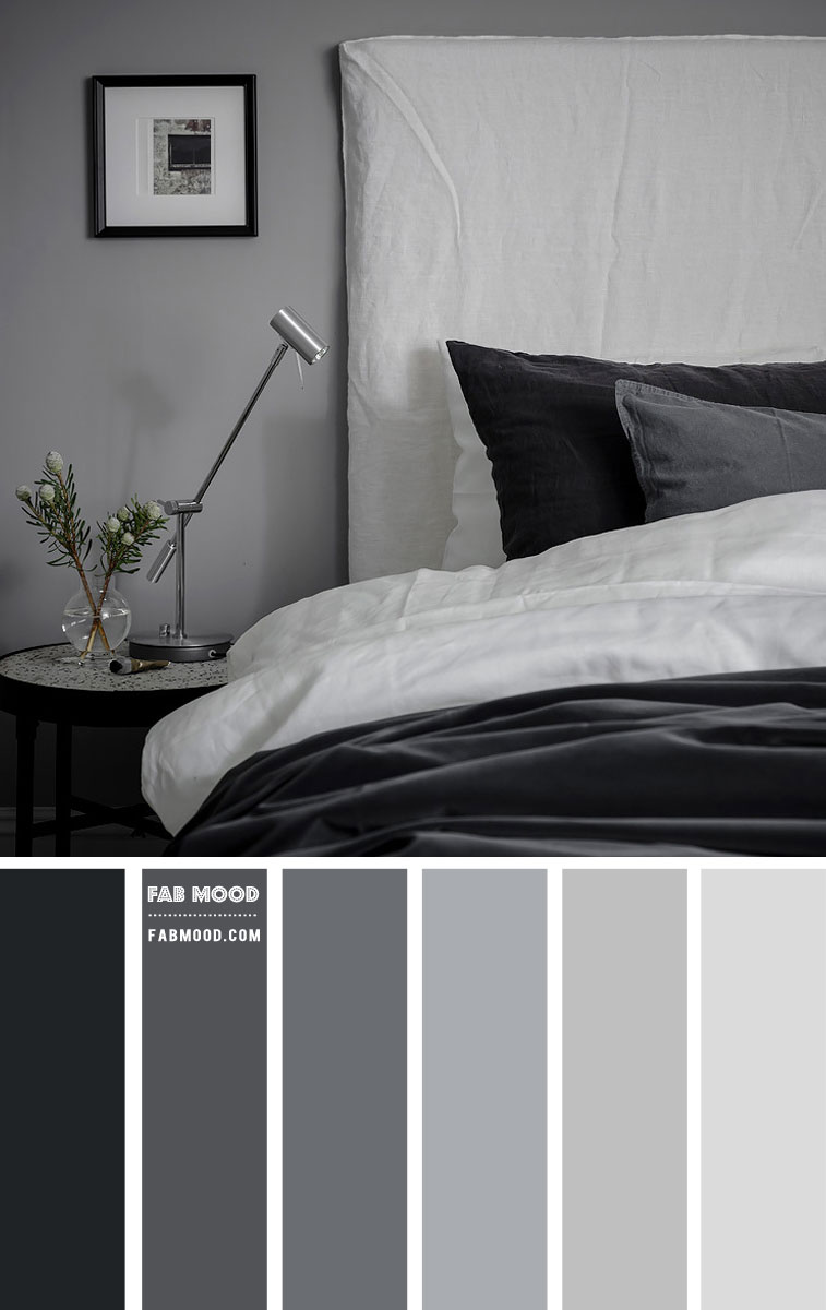 Black and Grey Bedroom Color Scheme