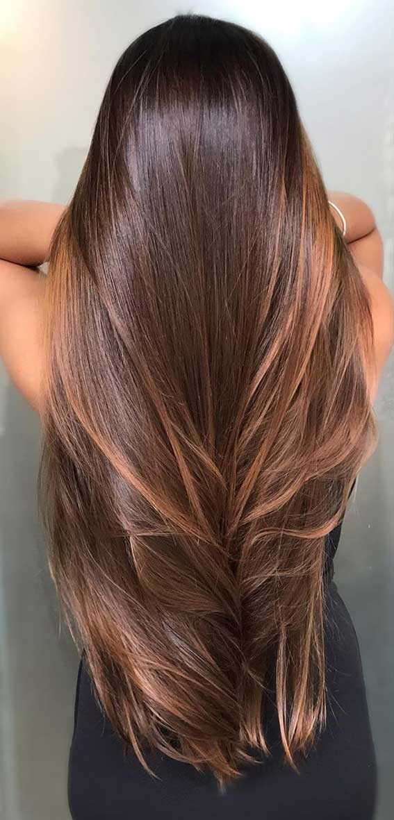 Fresh Hair Color Ideas In 2020 Natural Looking Brunette Balayage