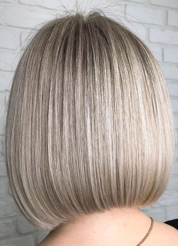 Fresh Hair Color Ideas In 2020 Dark Root Bob Hairstyle