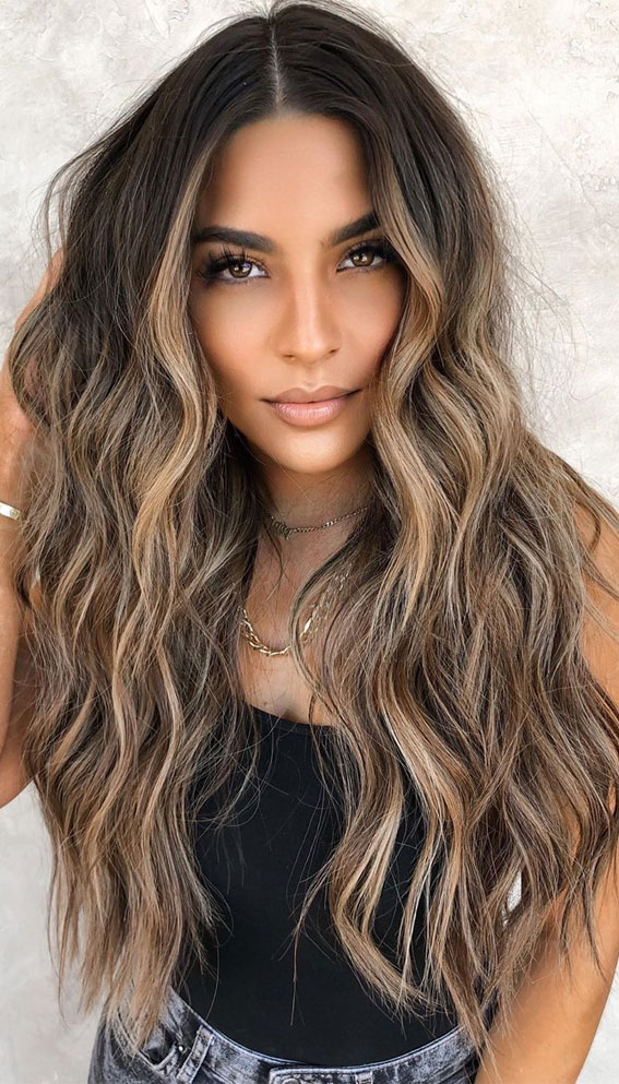 chocolate caramel hair color #caramelhaircolor brunette hair color, hair colors 2020, hair color ideas for brunettes, best hair color for 2020, hair colors pictures, hair colours 2019, blonde hair colors ideas, blonde highlights, blonde hair ideas, hair color ideas for dark hair #haircolor #brunettehair #brownhair