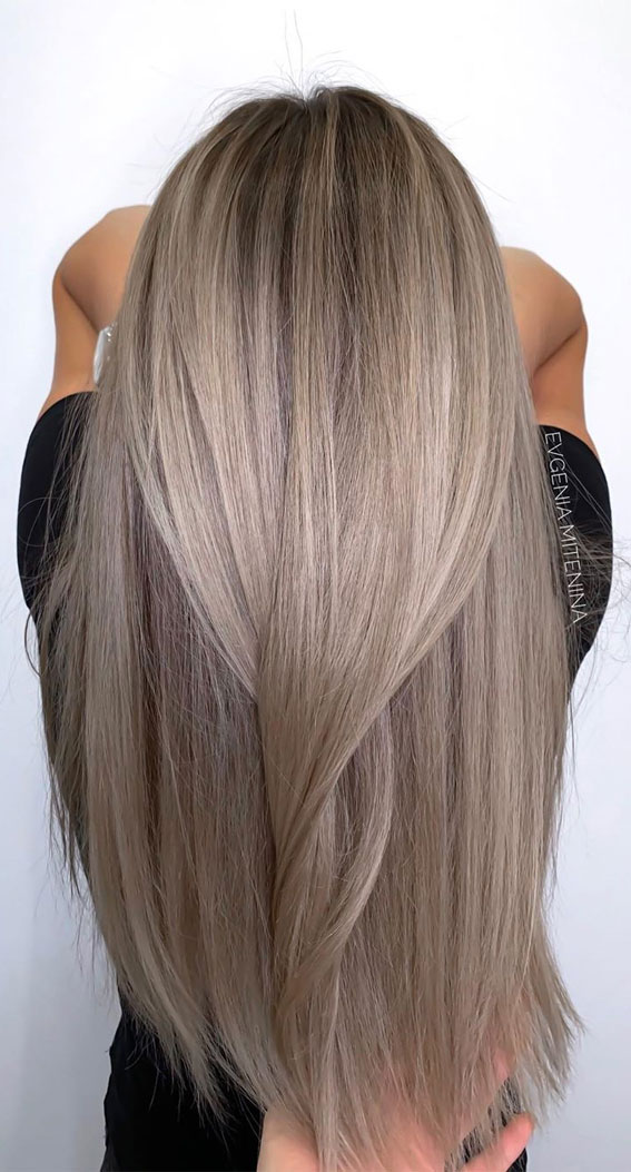 Gorgeous Hair Color Ideas That Worth Trying Ash Blonde