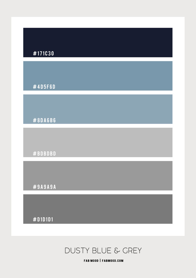 dusty blue and grey color combination #colorpalette #color #colorscheme #colorcombination grey and blue color scheme