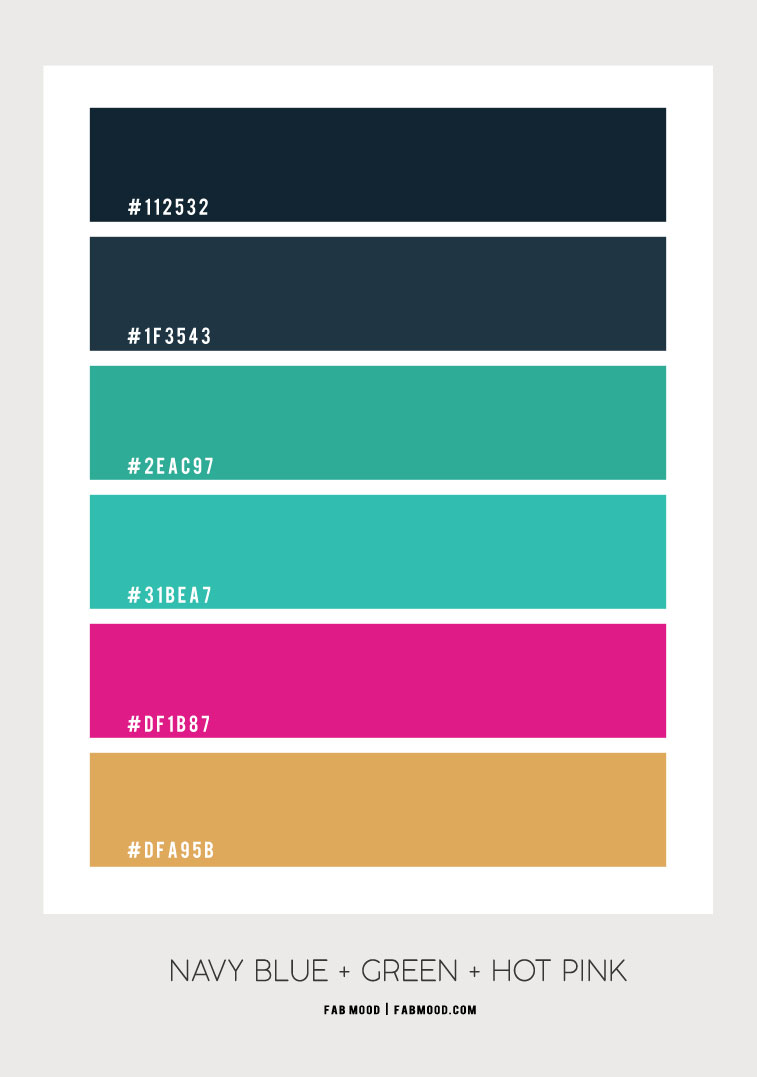 navy blue and green, turquoise hue, navy blue and turquoise color , color scheme , hot pink and navy blue , green navy blue color scheme, color palette #colorpalette #colorscheme
