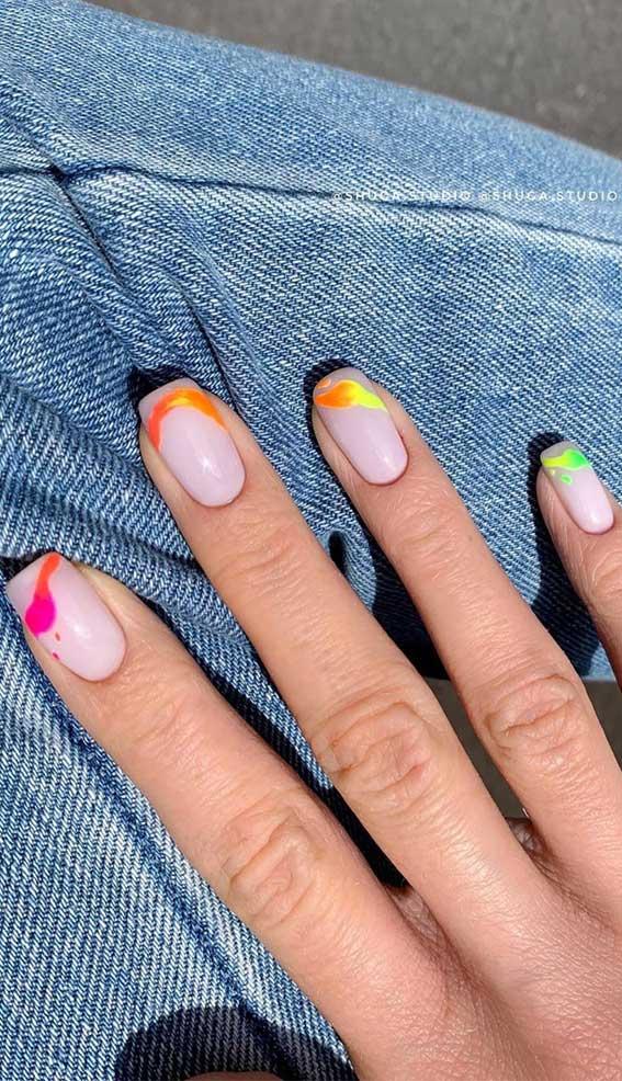 50 + Cute Summer Nail Ideas For 2020 – Splash of rainbow