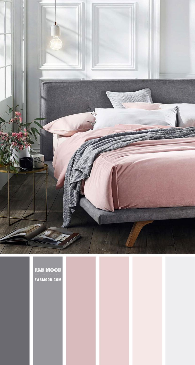 white bedroom, blush and grey bedroom, white paint bedroom, white wall bedroom, white bedroom decorating, grey and blush bedroom colour scheme