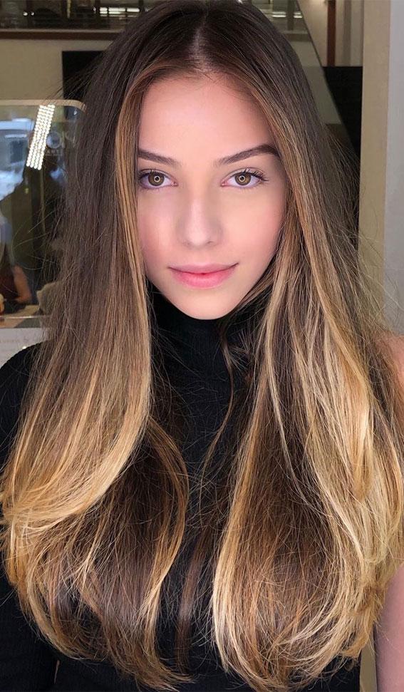 brown hair, brown hair color, hair color ideas #brownhair #haircolor #brunettehair brunette hair color, fall hair color #haircolor #brownhair #babylights