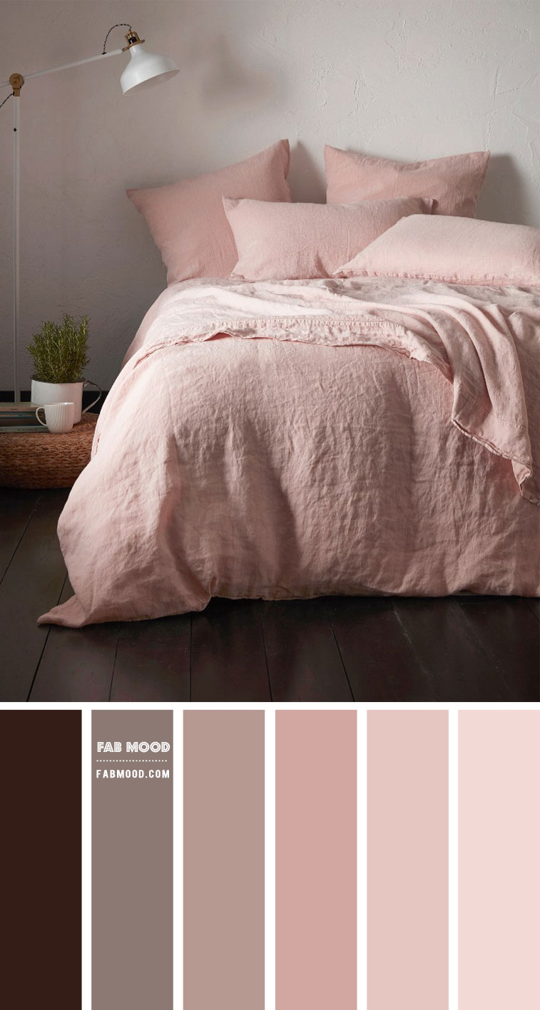 Earth Tones Bedroom Colour { Chocolate Brown and Pink }