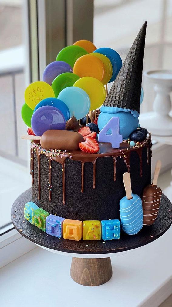 57 Beautiful Cake Inspiration – colourful lollipop cake