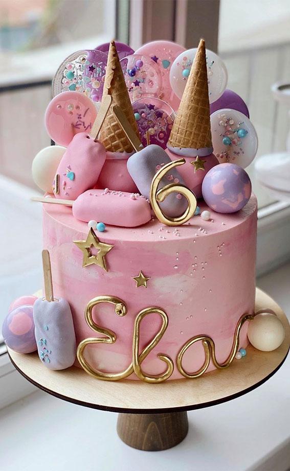 57 Beautiful Cake Inspiration – 6th birthday cake girl