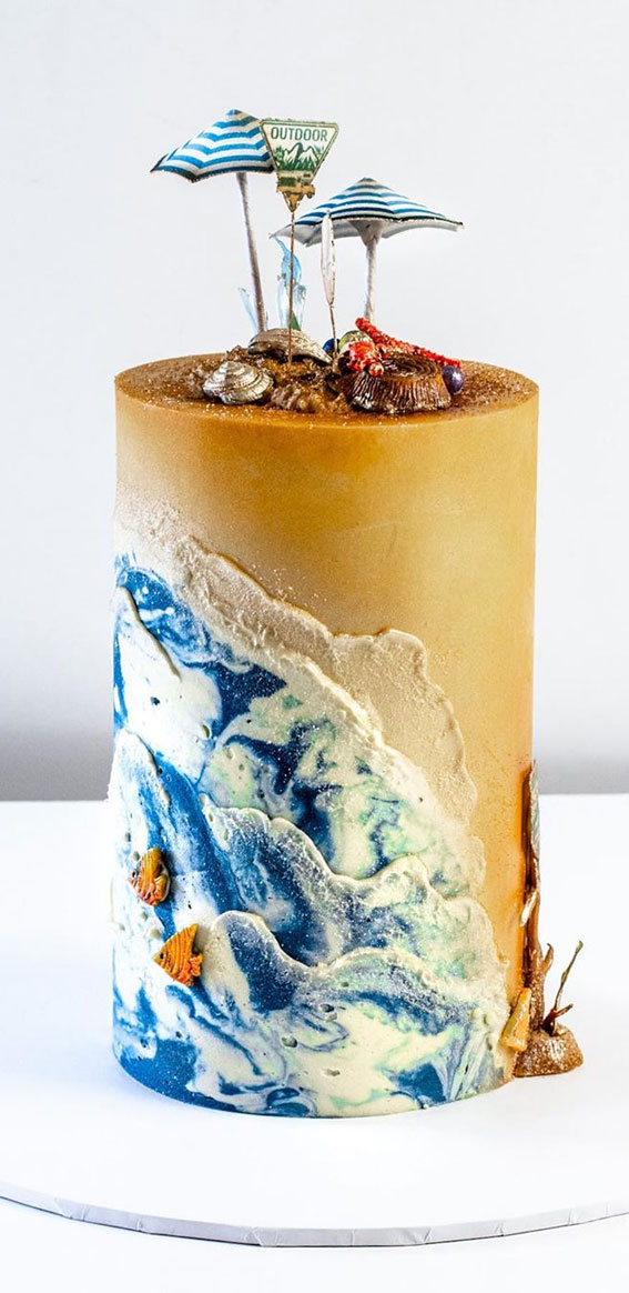 57 Beautiful Cake Inspiration – Beach Cake