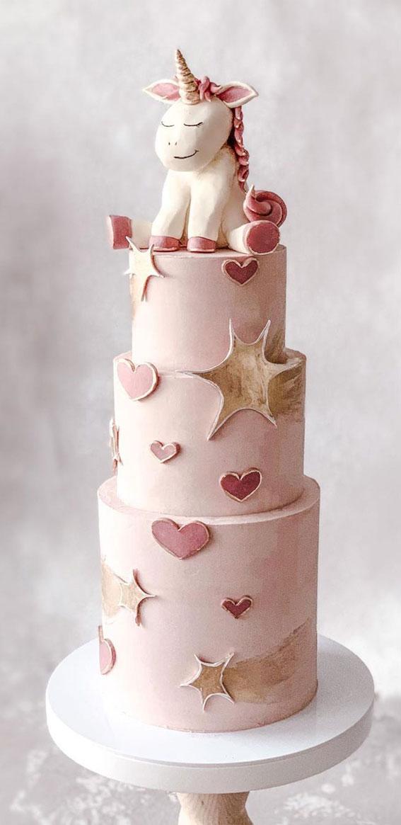 birthday cake, unicorn cake, pink cake , cake inspiration ideas , cake ideas #cakeideas #pinkcake