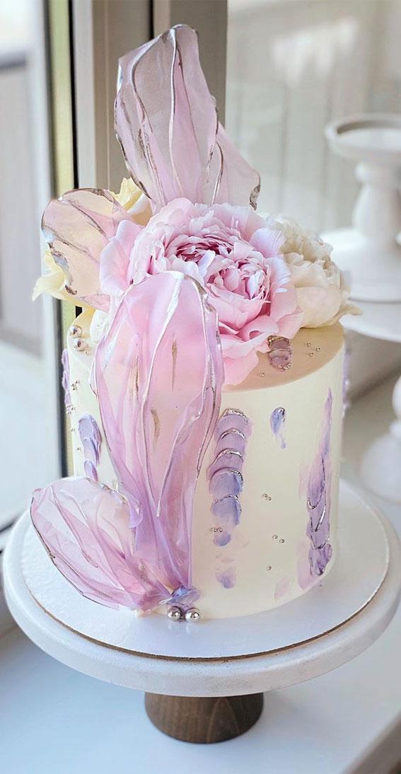 57 Beautiful Cake Inspiration – Cutie cake with big blooms