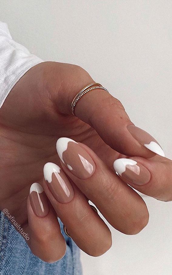 white tip nails, white nails tips, french nail ideas, french nails design #frenchnails