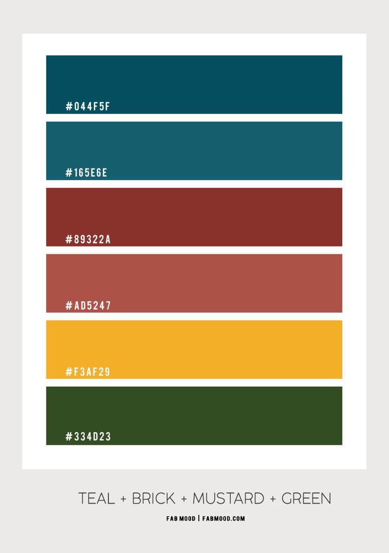 brick and teal, brick and teal , teal and terracotta color scheme, teal , teal color, burnt orange and teal , sienna and teal , brick color , teal and brick color scheme, teal and brown #color #colorscheme #colorpalette brickcolor #sienna #terracotta
