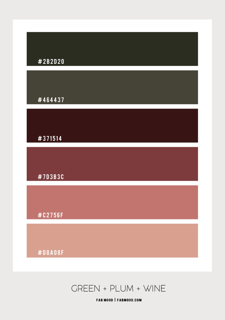 green and plum, plum wine and brick, green and plum color palette, green and plum color hex, green and plum color scheme, plum color scheme