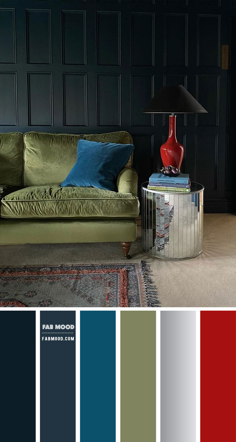 Dark blue Living Room Colour Scheme