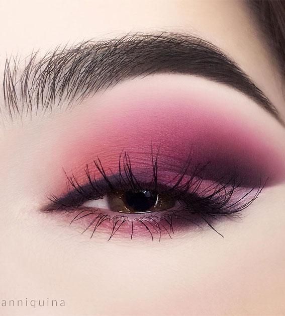 Gorgeous Eyeshadow Looks The Best Eye Makeup Trends – Berry Makeup look