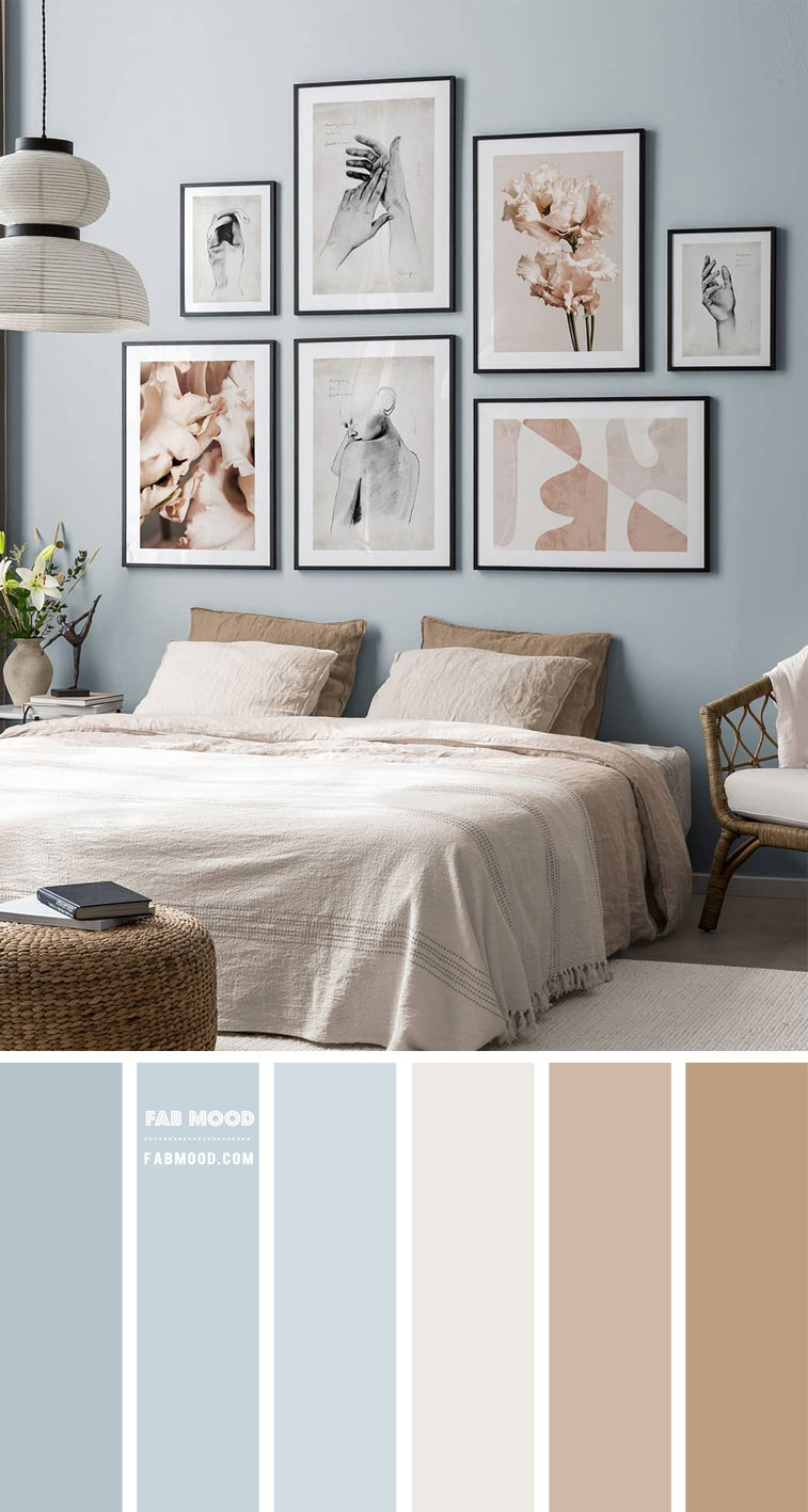 Soft Blue Bedroom Colour Scheme – Bedroom #Colour Palette 201