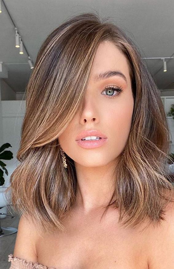 brown hair , brunette hair, brown hair color ideas, brunette balayage, hair color, fall hair color ideas #fallhaircolor #haircolor #balayage