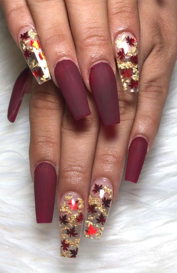 22 Trendy Fall Nail Design Ideas : Deep plum nails