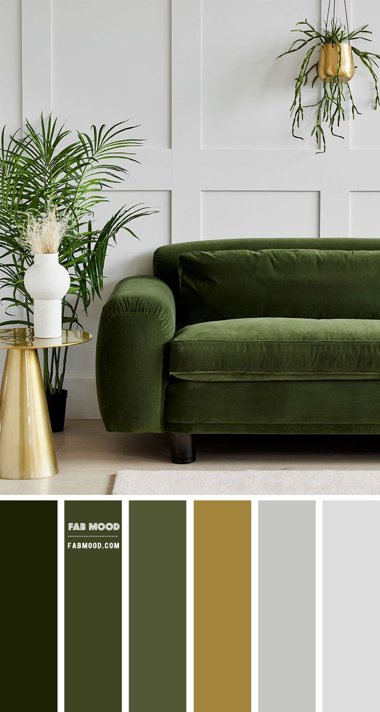 green and grey color scheme for living room, green and grey living room, green and grey colour scheme, green and grey color ideas #colorideas #green #grey #colorcombo #livingroomcolor