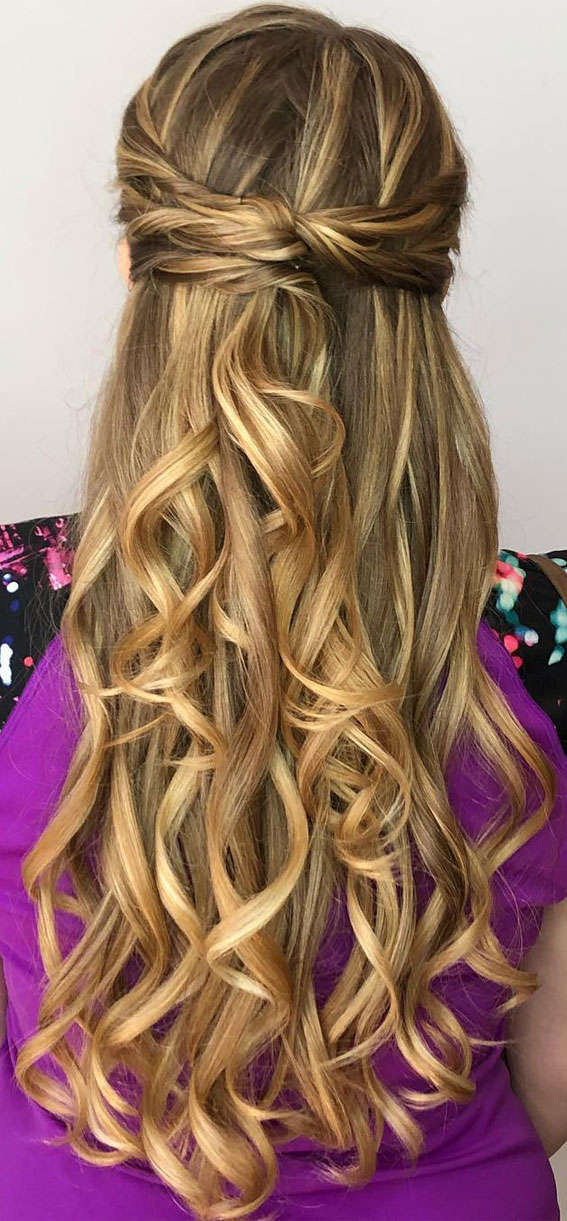 Trendy Half Up Half Down Hairstyles : Infinity Braided Half Up