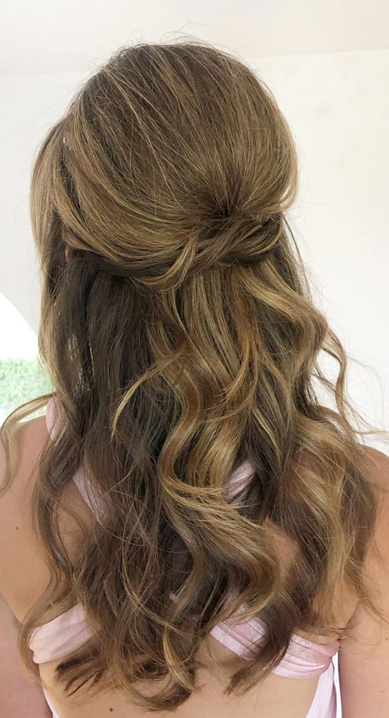Trendy Half Up Half Down Hairstyles : Volume Half Up