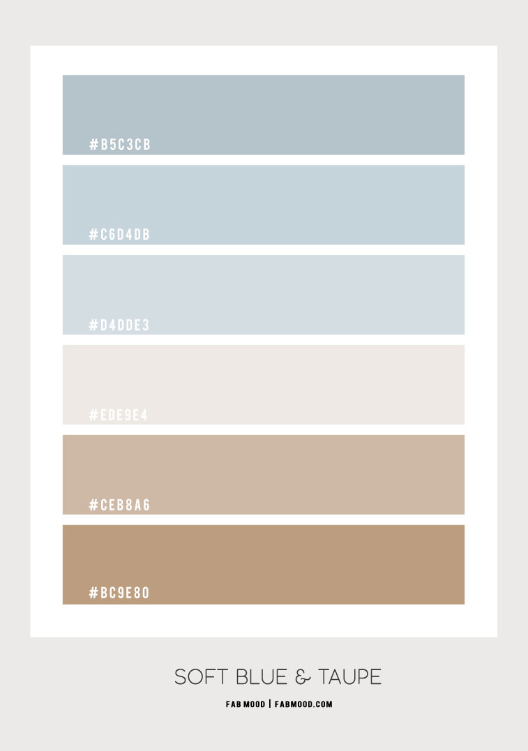 soft blue and taupe hex colors, hex colors, soft blue hex color, taupe hex color, color code , soft blue and taupe color combo #colorcombo #hexcolor