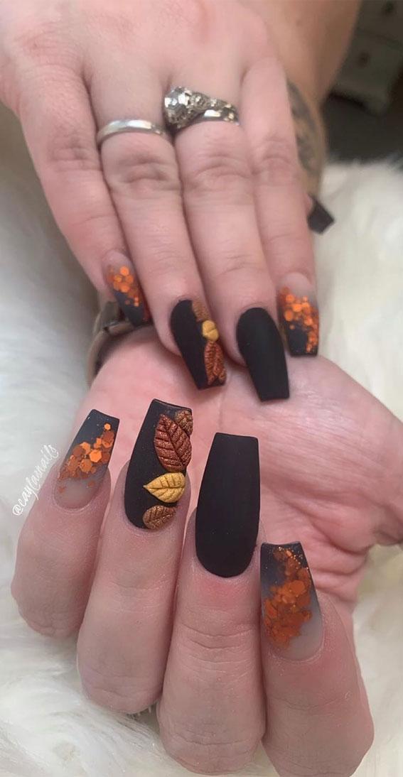 autumn nails, fall nails, acrylic nails, autumn acrylic nails designs, acrylic fall nails design #fallnails #acrylicnails