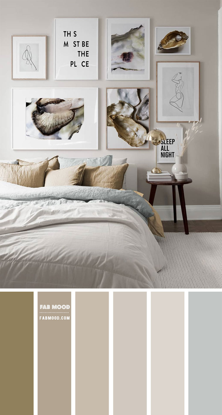 Pale Taupe Bedroom Colour Scheme  – Bedroom #Colour Palette 202