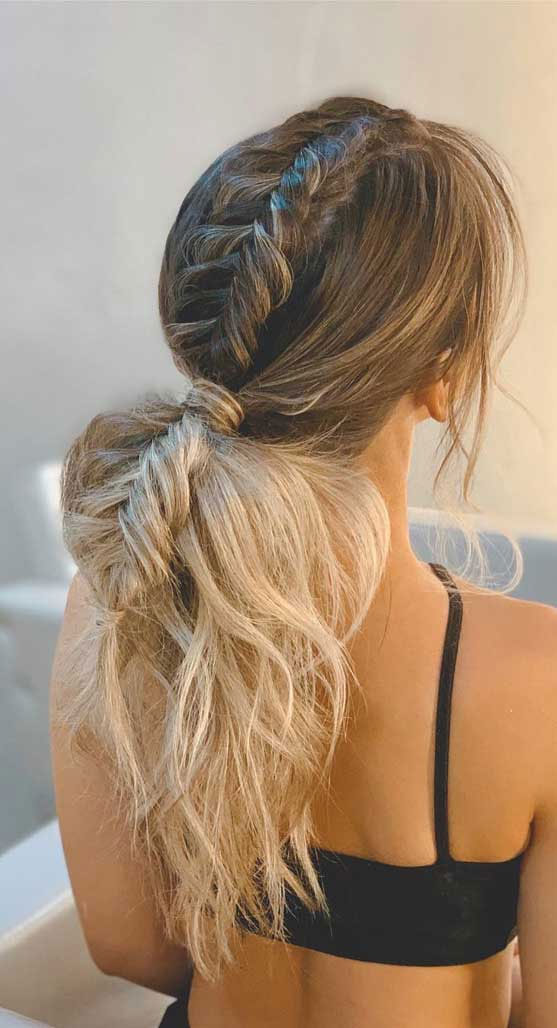 Beautiful & Creative Ponytail Hairstyle To Complete Your Look : fishtail