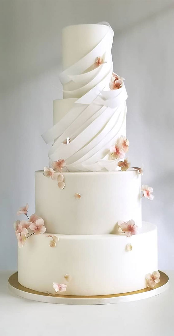 These 50 Beautiful Wedding Cake Designs You Will Be Blown Away : Contemporary Cake