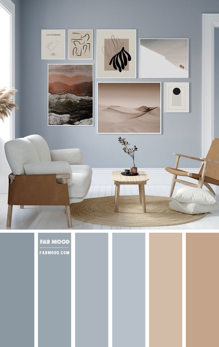 blue and taupe living room, living room color ideas, living room decor, blue and taupe color combo #colorcombo #bluetaupe