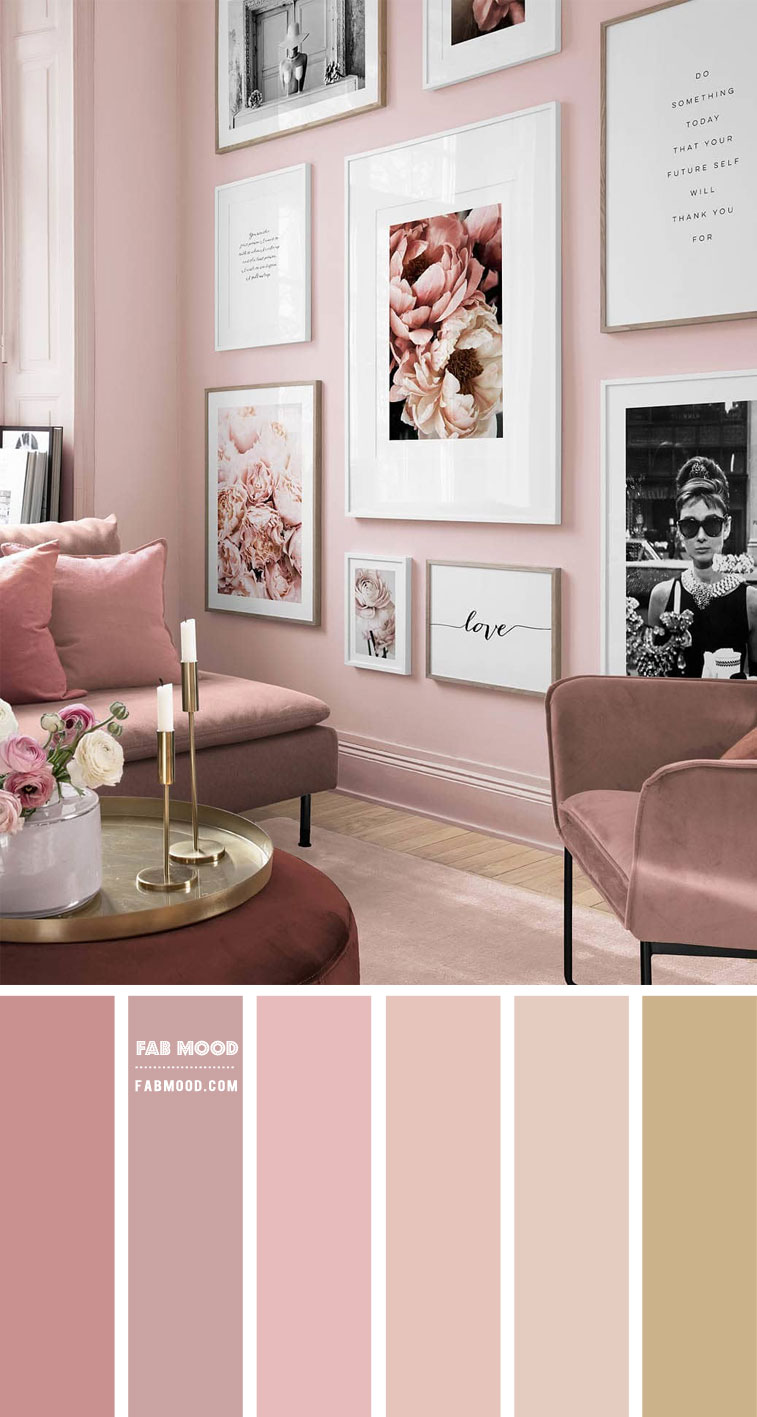 blush pink living room, pink living room color scheme, pink living room color ideas