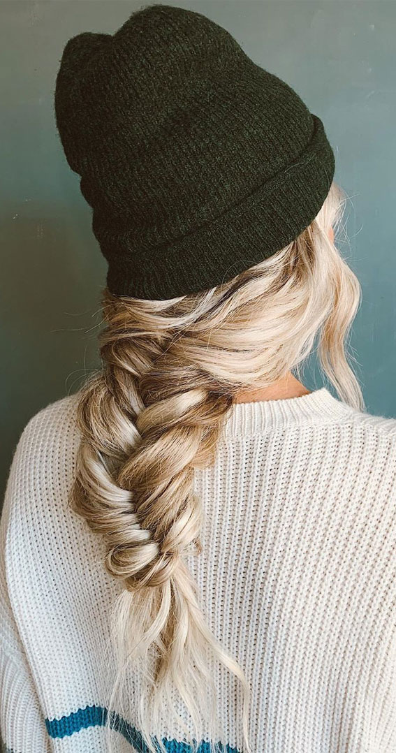 72 Braid Hairstyles That Look So Awesome : Cozy fishtail braid