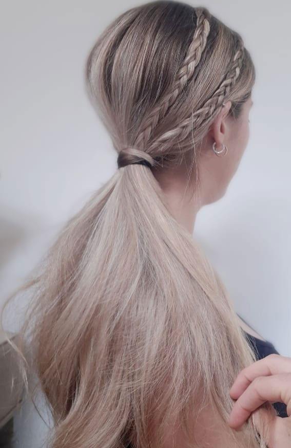 44 Beautiful Ways to Wear Braids This Season : Micro Braided Ponytail