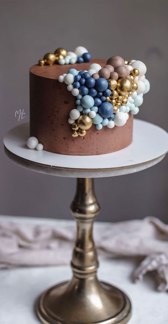 54 Jaw-Droppingly Beautiful Birthday Cake : Chocolate cake adorned with balls