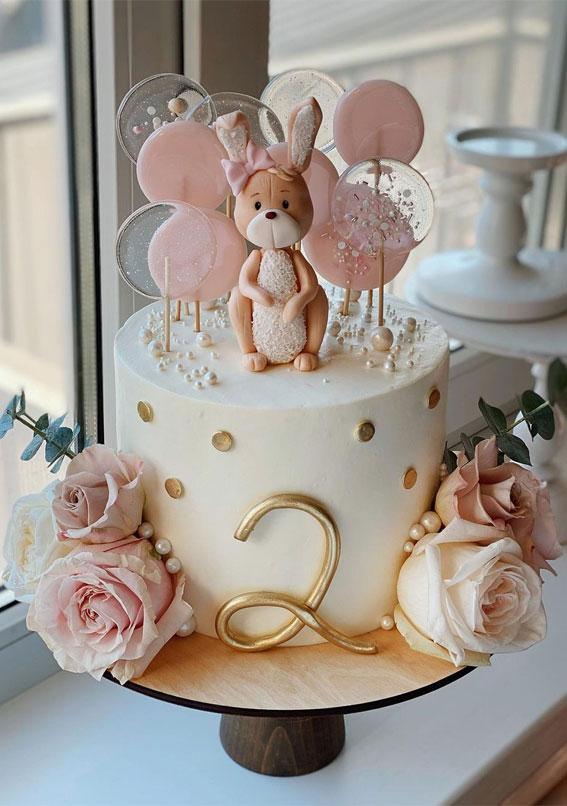 54 Jaw-Droppingly Beautiful Birthday Cake : Cute 2nd birthday cake