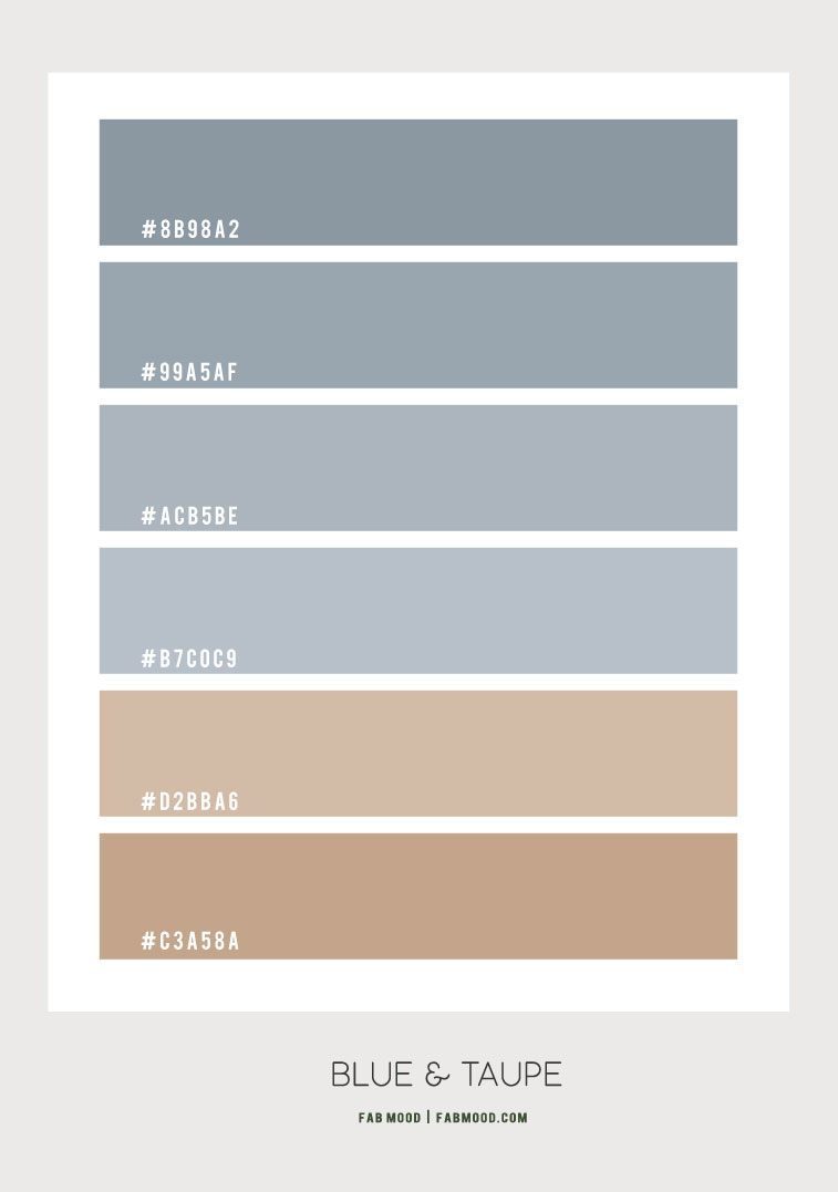 blue and taupe, blue and taupe color hex, blue and taupe color scheme, blue and taupe color combo, blue and taupe color combination #colorcombo