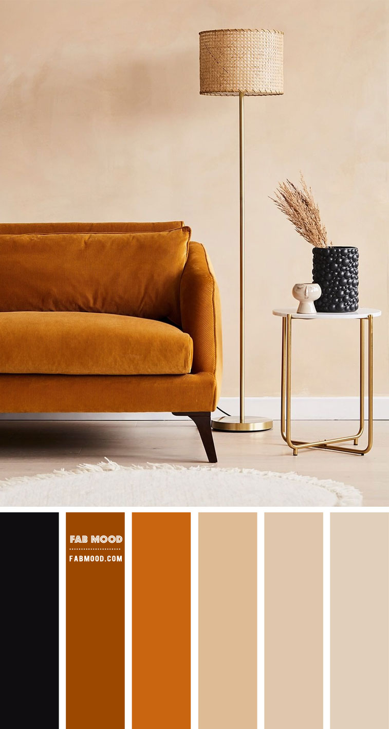 Earth Tone Living Room { Golden Wheat and Taupe Colour Scheme }