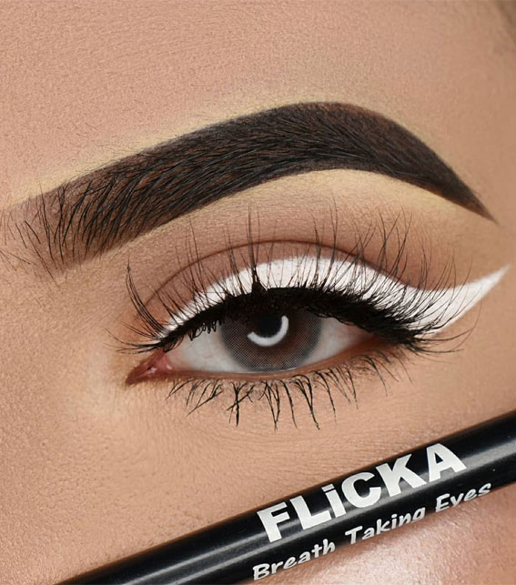 Gorgeous Eyeshadow Looks The Best Eye Makeup Trends – White eyeliner