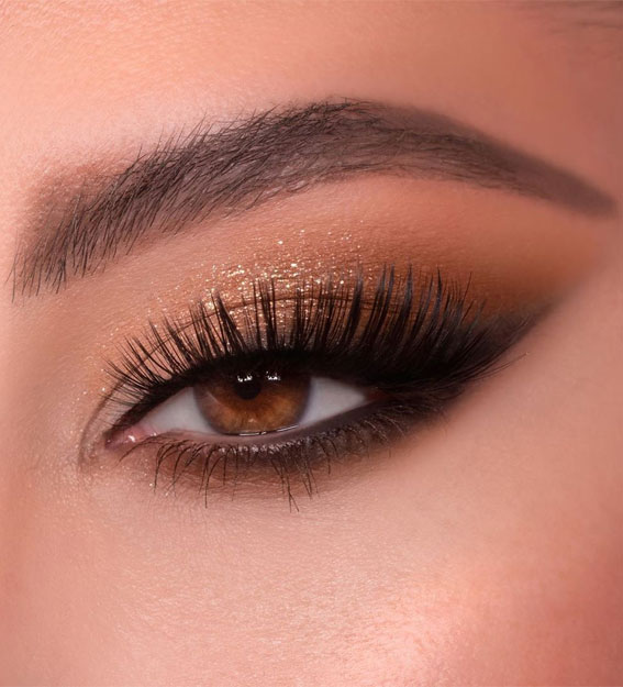 Gorgeous Eyeshadow Looks The Best Eye Makeup Trends – Gold Glam Smokey