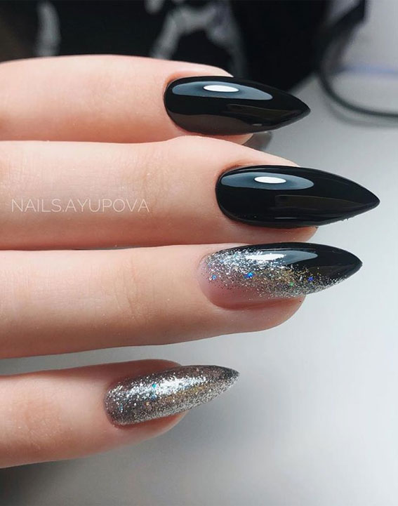 41 Pretty Nail Art Design Ideas To Jazz Up The Season : Sophisticated black nails