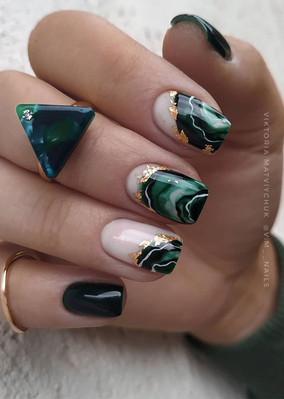 41 Pretty Nail Art Design Ideas To Jazz Up The Season : Geode nails