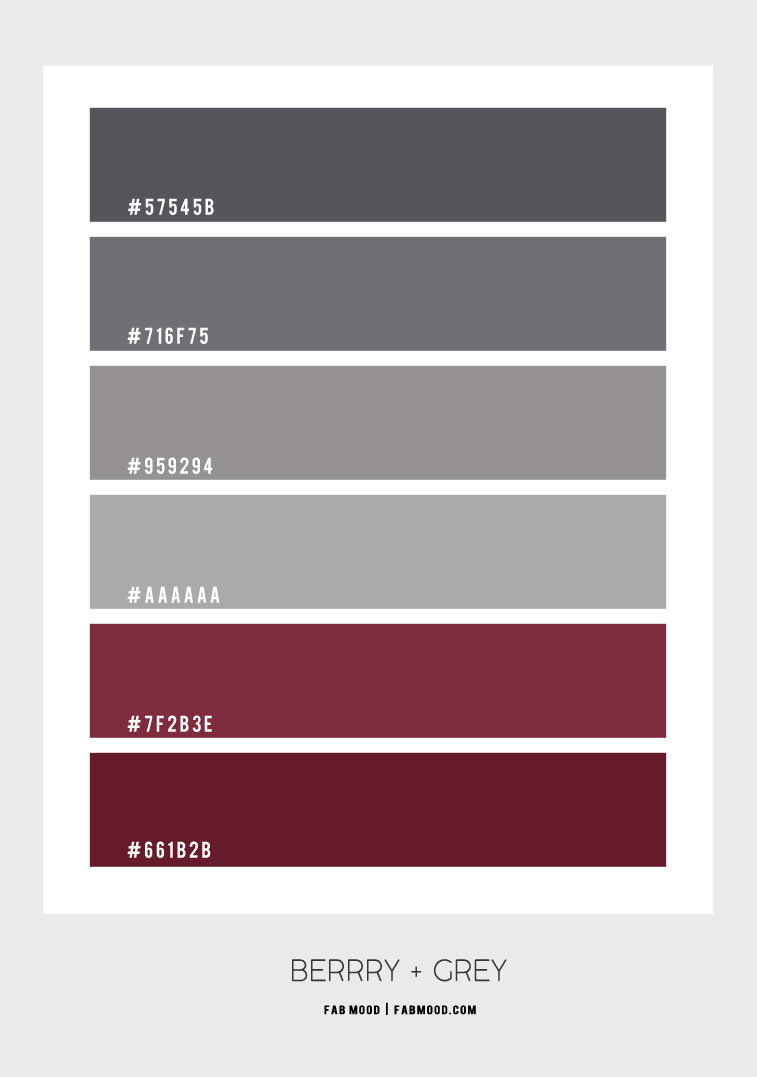 berry and grey color combo, berry and grey color scheme, dark pink and grey color combo, berry hue, color hex, berry color hex