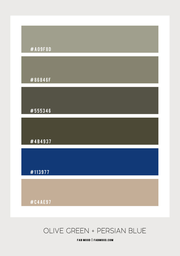 olive green and persian blue color scheme, olive green and persian blue color ideas, olive green and persian blue colour combo, color scheme, color combinations, color hex olive green #colorcombo #colorhex
