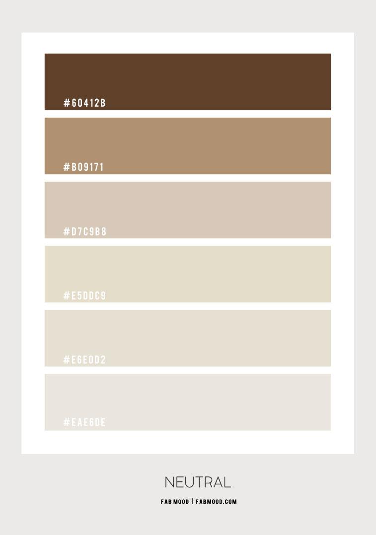 neutral color combo, neutral color combination, neutral color palette, neutral color hex #colorcombo #colorscheme #colorscheme