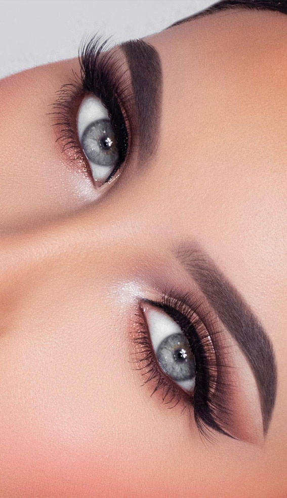 65 Pretty Eye Makeup Looks : Neutral Eye Makeup Look